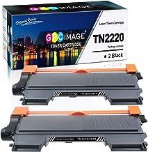 GPC Image TN-2220 TN-2010 Cartuchos de Tóner reemplazo Compatible para Brother MFC-7460DN HL-2250DN HL-2130 HL-2270DW MFC-7360N FAX-2840 HL-2240 DCP-7065DN DCP-7055 FAX-2940 Impresora(Negro,2-Paquete)
