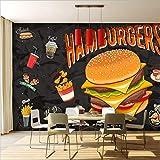 Zybnb Murales 3D Western Burger Fried Chicken Comida Rápida Restaurante Comida Papel Tapiz Restaurante Corredor Mural Papel Tapiz