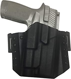 Elite Force Holsters: Light Bearing Kydex Holster for Sig Sauer P320 Full Size with Streamlight TLR1 OWB - RMR Cut - Black, Right Hand