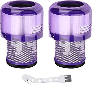 (2 Pcs+1 brush) Auloo Vacuum Filter for Dyson V11 Series, V15 series Replace Dyson Part No. 970013-02 Filter,Compatible wi...