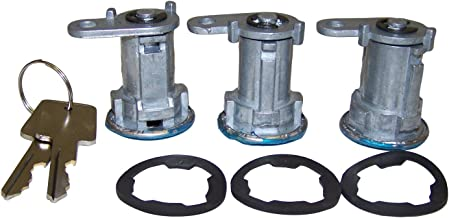 Crown Automotive 8122874K3 Door Lock and Knob (81-86 Cj-5,7,8/84-90 Xj Cherokee/Mj Comanche/87-90 Yj Wrangler W/Full Steel Doors Cylinder Kit)