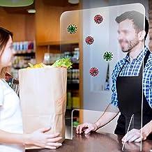 "Sneeze Guard Barrier 50x40cm(19.6""x15.7"") Transparante Panel voor Counter Bank Shop Acryl Shield voor Cashier Clerk plexig..."