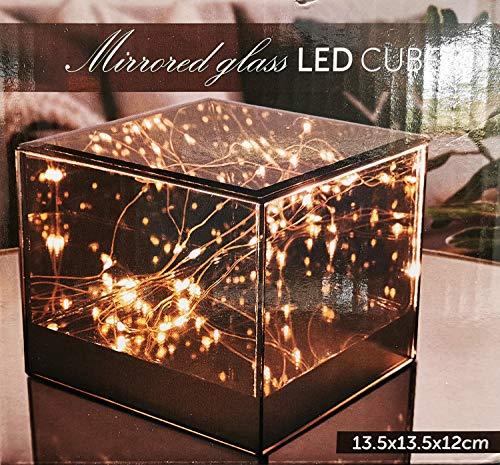 Glazen LED 3D lichtbox met 15 LED lichtkast kubus lichtbord decoratieve verlichting