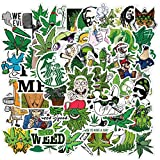 50 Pack Weed Stickers for Skateboard,Cool Stickers for Adults Funny Waterproof Vinyl Stickers Decals for Laptop,Bumper,Water Bottle, Hydroflask, Phone, Travel Case, Computer,Guitar, Car