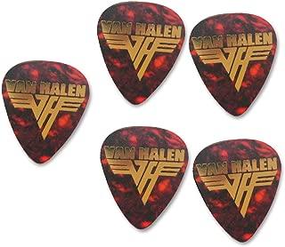 Van Halen 5x Gold printed guitar pick plectrum medium gauge 0.71mm Tortoise