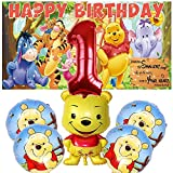 1st Winnie The Pooh Party Supplies | Favors | Decorations | First | One | Banner | Backdrop | Balloons | Birthday | Set | Decor Orange