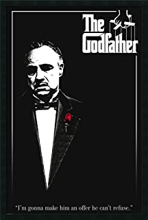Framed Wall Art Print Godfather - Red Rose 25.25 x 37.25