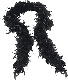 LODDD Fashion Solid Color Feather Scarf Boa Flapper Hen Night Burlesque Dance Party Show Costume