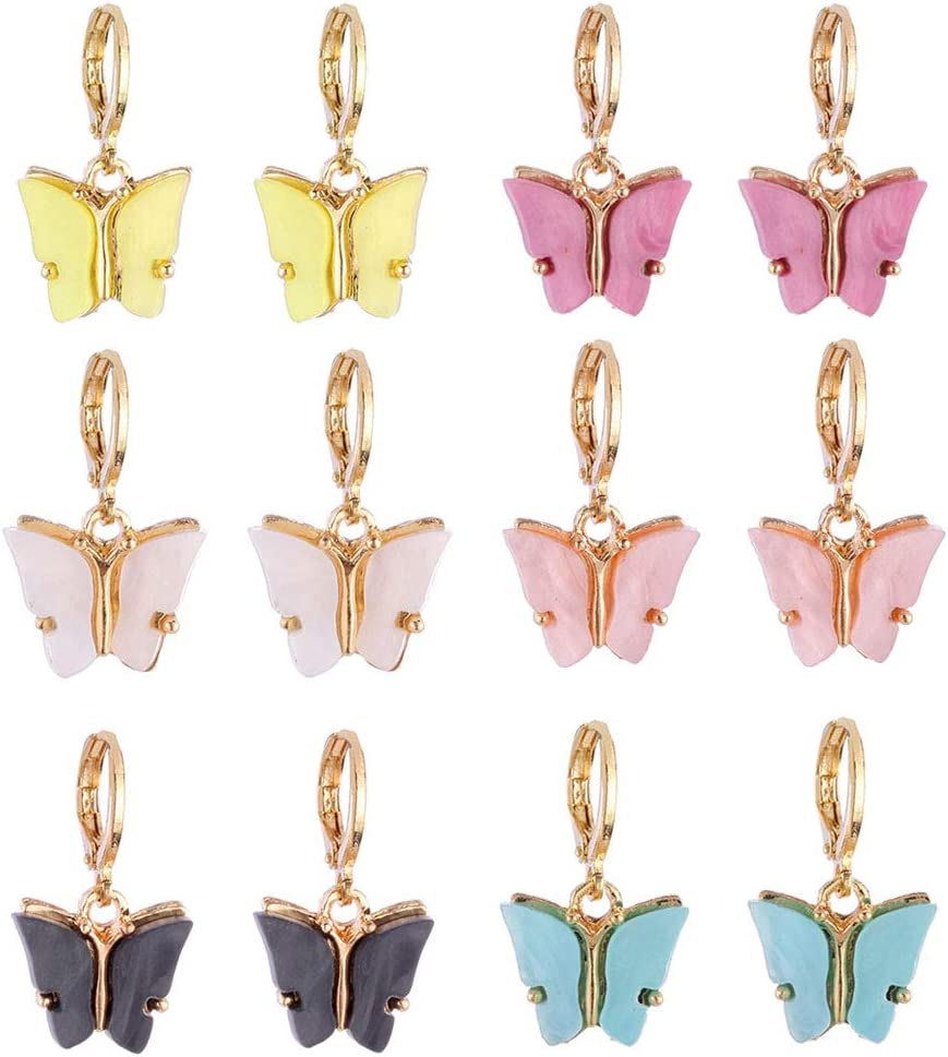 HELYZQ 6 Colors Finally resale start Butterfly Memphis Mall Drop Dainty Butterf Earrings Mini Tiny