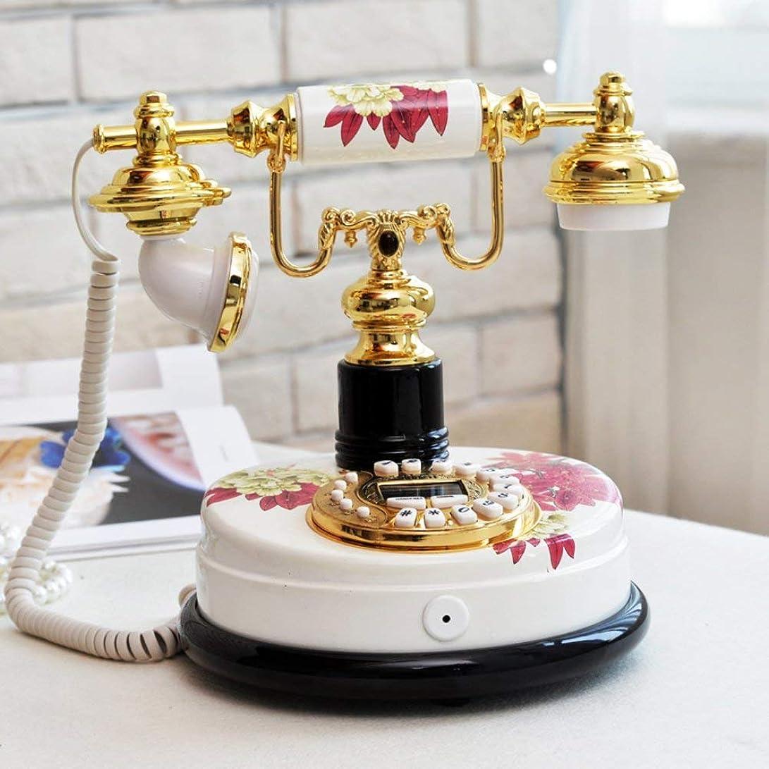 機械的くぼみキリマンジャロZY-YY ホームデコレーション-Aのためのヴィンテージクリエイティブ電話ホームレトロな固定電話の発信者IDセット