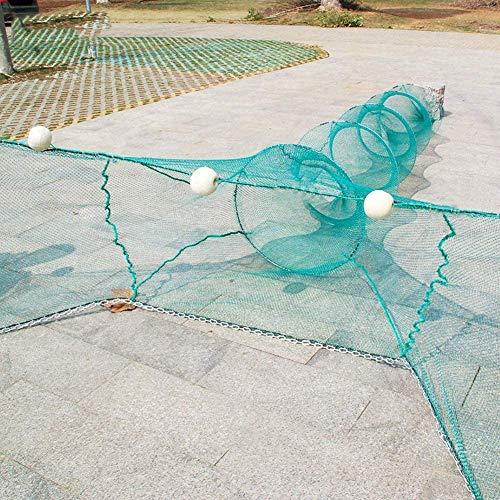 Lawaia Fischnetz, Fischfalle, zusammenklappbar, Fischkäfig/FFshing-Fangnetz/Angelkorb zur Aufbewahrung von Ködern, Krebsen, Fisch, Geruch, Elritzen, Garnelen, Hummer (2 m)