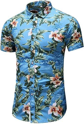 Camisa Hawaiana para Hombre, Manga Corta, Estampada,con 3 ...