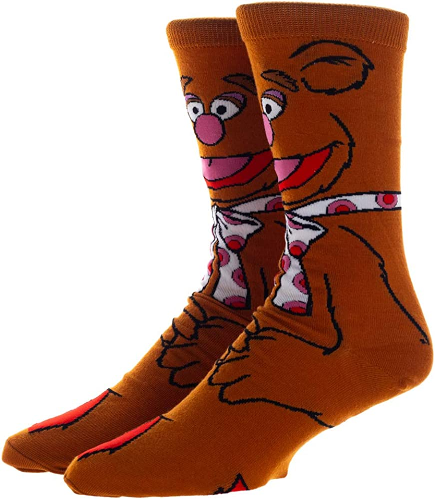 Dsy - Fozzy 360 Character Brown Mens Crew Socks