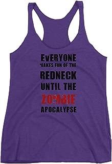 Graphic Display Zombie Apocalypse, Redneck, Walking Dead, Daryl Dixon, Racerback Tank