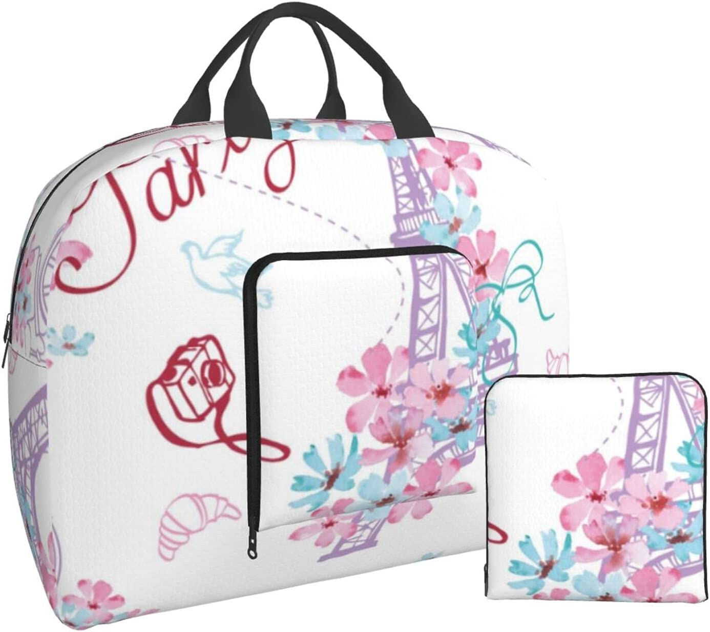 Foldable Ranking TOP4 Travel Duffel Bag Romantic Folding Paris In Baltimore Mall Duff