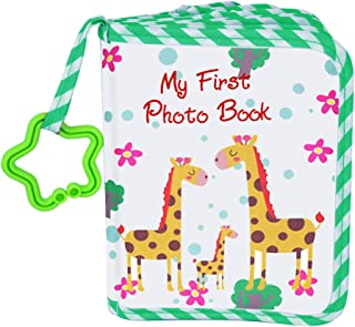 VNOM Baby Photo Album Soft Cloth Photo Book First Year Memory Album Shower Gift for Babies Newborns Toddlers & Kids,Holds ...