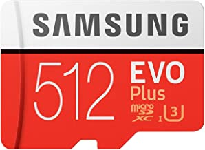 Samsung EVO Plus Class 10 Micro SDXC with Adapter, 512GB...