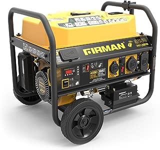 Firman P03612 4550/3650 Watt 120/240V Remote Start Gas Portable Generator cETL Certified, Black