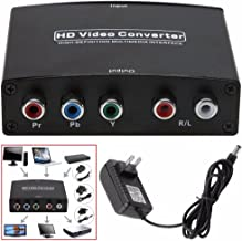 Jahyshow HDMI to YPbPr Component 5RCA V1.4 RGB Converter Adapter and R/L Audio Output for Macbook TV Blu-Ray DVD PS4 DVD, PSP, Xbox 360