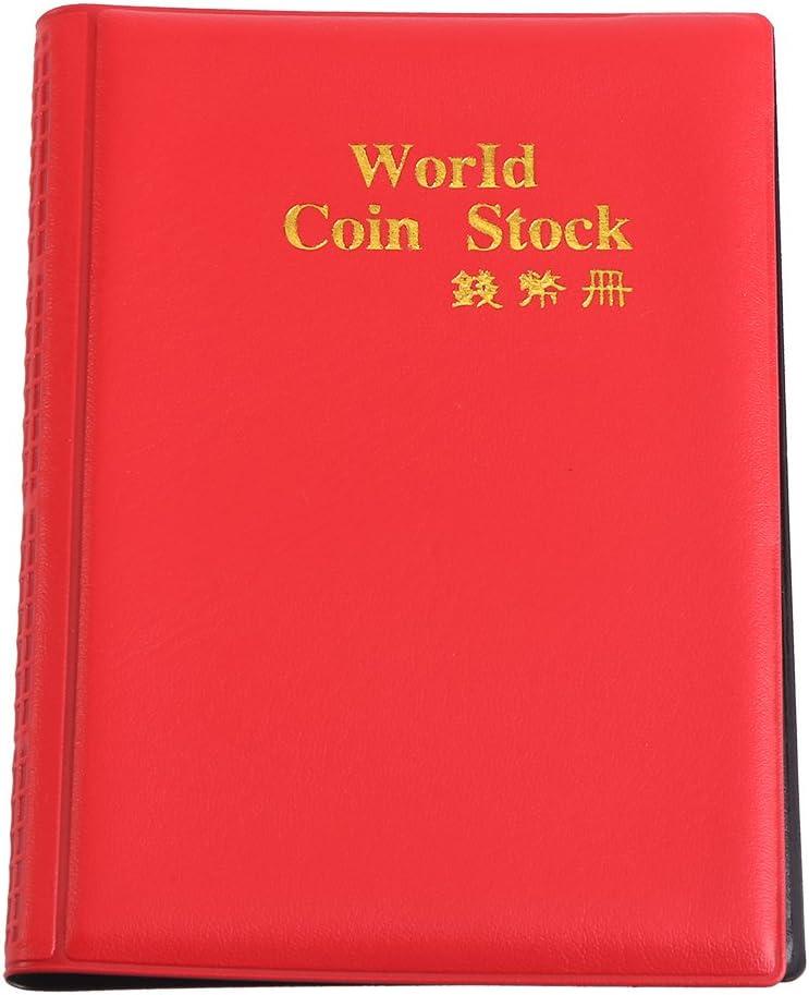 US 480 Pocket Coins Storage Book Coin Collection Album Folder Money Holder Black