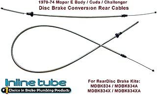 Compatible With Mopar, 1970-1974 E-body Cuda, Challenger Disc Brake Conversion Cables for 8 3/4