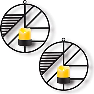 Kathy Christmas Holiday Wall Mounted Candle Holder,Set of 2 Candle Sconces Wall Decor for..
