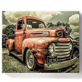 ★Framed: The framed oil painting uses the frame to prop up the canvas for easy painting. ★Pre-printed Textured Canvas: High density canvas is durable and easy to color; easy-to-read numbers help identify the correct color to use. ★Easy to Follow: Per...