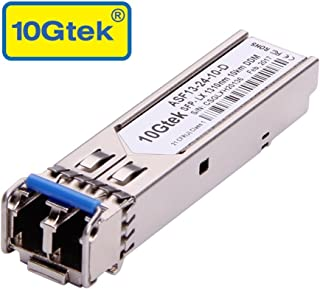 Gigabit SFP LC Single-Mode Transceiver, 1000BASE-LX Mini-GBIC Module for Ubiquiti UF-SM-1G,(1310nm, DDM, 10km)