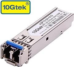 Gigabit SFP LC Single-Mode Transceiver, 1000BASE-LX Mini-GBIC Module for D-Link DEM-310GT,(1310nm, DDM, 10km)
