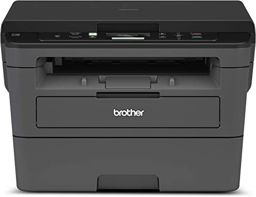 Brother Compact Monochrome Laser Printer, HLL2390DW, Convenient Flatbed Copy & Scan, Wireless Printing, Duplex Two-Si...