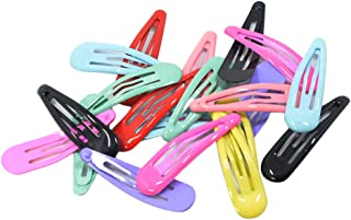 FITYLE About 2'' Snap Clips No Slip Wrapped Hair Barrettes for Toddlers Girls Kids Women Hair Accessories (20pcs Assorted ...