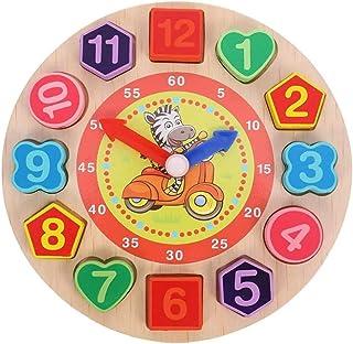 لعبة ساعة خشبية لتعلم قراءة الوقت من ام انا، العاب تصنيف الاشكال وتعلم الارقام برباط خرز لربط الادوات، لعبة احجية تعليمية