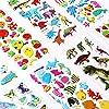 Vicloon Pegatinas para Niños 500+ 3D Puffy Pegatinas, 22 Hojas Variedad de Pegatinas para Regalos Gratificantes Scrapbooking Que Incluye Animales, Peces, Dinosaurios, Números, Frutas, Aviones y Más #5