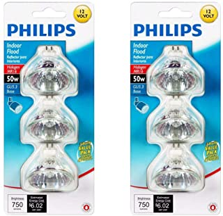 Philips 415802 Landscape and Indoor Flood 50-Watt MR16 12-Volt Light Bulb, 3-Pack x 2