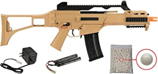 Wearable4U H&K G36C Competition Series Airsoft AEG Rifle with Included 9.6V NimH Battery and Charger Pack of 1000 6mm 0.20g BBS Bundle