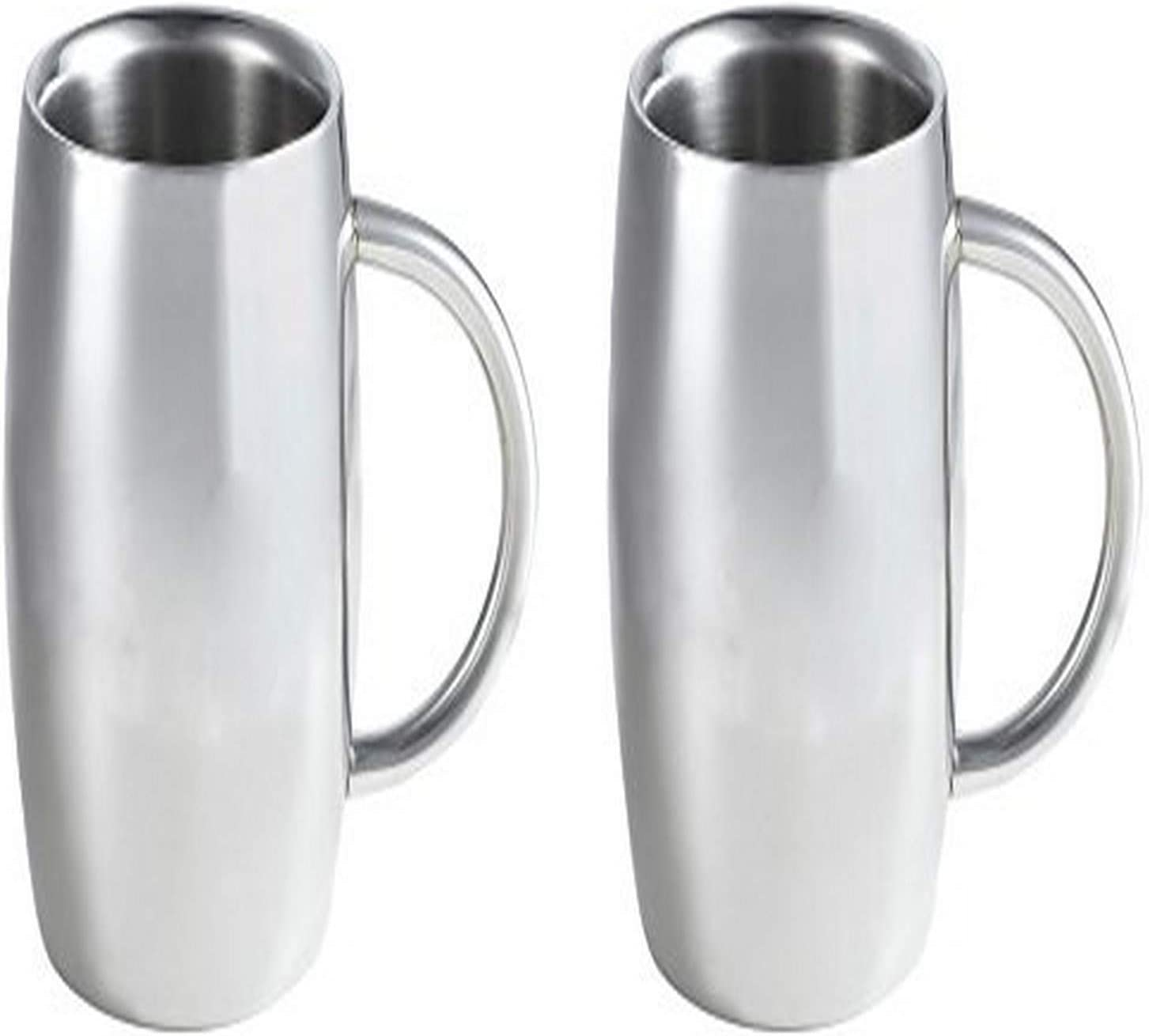 Visol Emerald Double Cheap mail order shopping Max 57% OFF Walled Stainless Steel 2 Beer Pack Mug 1