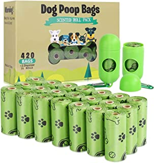 TVOOD Dog Poop Bags(420 Count), Biodegradable Poop Bags for Dogs, Leak Proof, Eco-Friendly Dog Waste Disposal Bags Refill Rolls with 2 Free Dispenser (Scented)