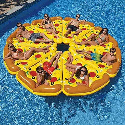 Wasserversorgung Life Buoy Pizza Schwimmdock Row/PVC/Pizza Schwimm Row Berg Erwachsener Schwimmen Ring Schwebebett Lounge Chair, (70,8 * 53,1 * 11.8In * 8 Stück)