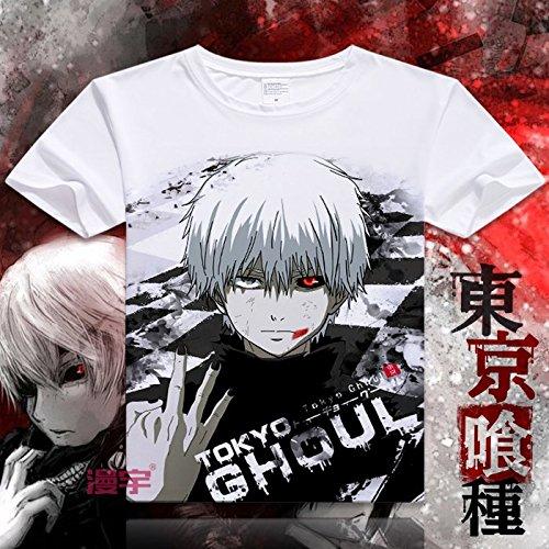 Sunkee Nueva Animado Japonés Tokyo Ghoul Te de La Camiseta - Ken Kaneki ( Se puede elegir el tamaño correcto según la carta del tamaño en la Amazonía) (S, La Camiseta)