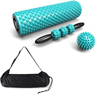 Foam Rollers 4 Piece Set for Deep Tissue Muscle Massage, Trigger Point Massage Ball for Painful Tight Muscles Rehabilitation