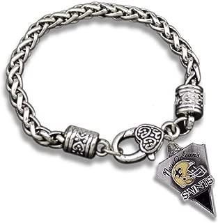 New Orleans Saints Charm Bracelet is Black & Gold Enamel with Raised Fleur DE LIS Helmet.She Will Love it. Believe DAT: