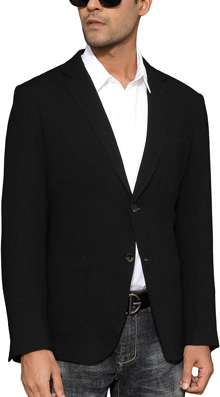 PJ PAUL Very popular JONES Men's Slim Fit Lightweight Linen Tailored Jacket B NEW before selling
