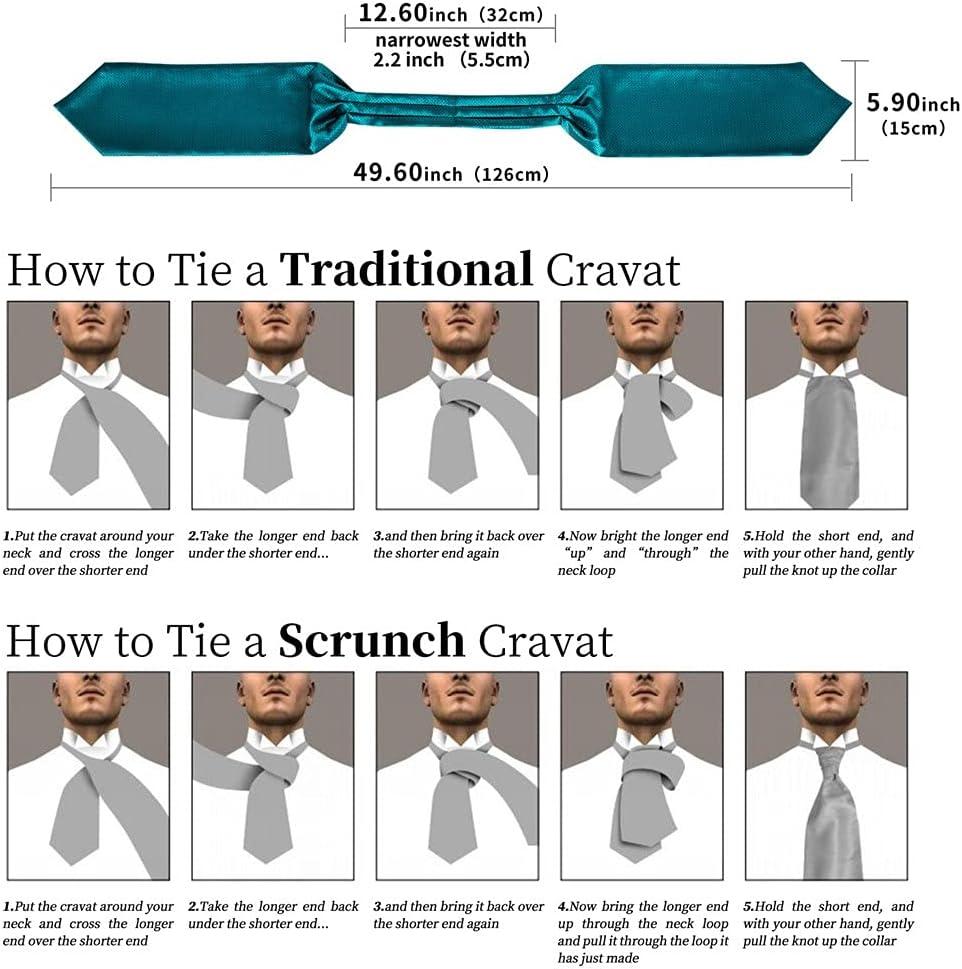EEKLSJ Men Vintage Teal Blue Wedding Formal Cravat British Style Gentleman Silk Neck Tie Hanky Ring Set (Color : Teal Blue, Size : One Size)