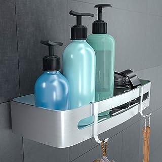 RenFox Estantes Ducha Estanteria Baño Sin Taladro Organizador Estante Baño Aluminio Cesta para Ducha Estanteria Ducha ...