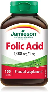 Jamieson Folic Acid 1mg 100 Tables