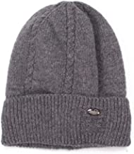 Women Casual Warm Winter Hats Men Fleece Lined Wool Knitted Hats Solid Color Unisex Stretchy Skullies Caps