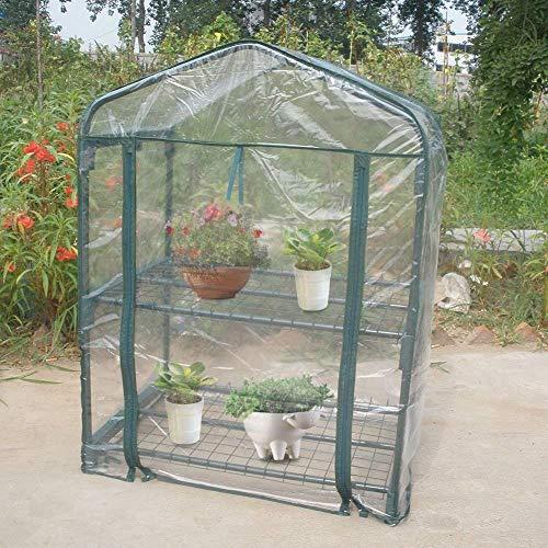Tienda de invernaderos, planta portátil de PVC Casa verde Mini plantas de flores cálidas Hogar cubierta vegetal resistente al agua para la plantación de jardinería en exteriores e interiores (sin sopo