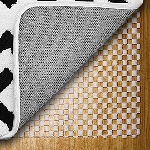 Non-Slip Area Rug Pad Extra Thick Rug Gripper for Any Hard Surface Floors, Rug Gripper Protective Cushioning Pad Keep Your Rugs Safe and in Place (216x 54cm)