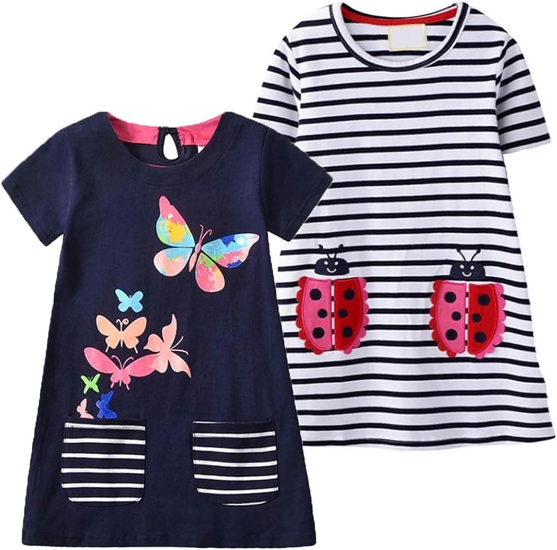 VIKITA Casual Summer quality assurance Dresses Girls 2-8 Tulsa Mall Years Toddler