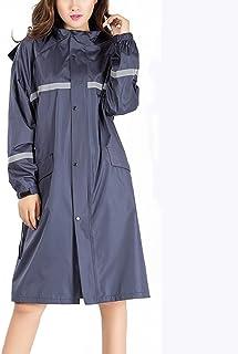 XRXY レインコート/ロングセクションファッション自己栽培ウインドブレーカーレインコート/大人用オートバイ(帽子付き)シックレインコート/ライディングアウトドアハイキングレインフォールトポンチョ ( 色 : B , サイズ さいず : M )